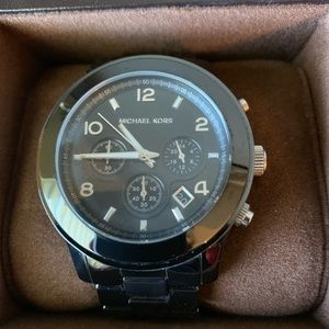 Michael Kors large face ceramic watch